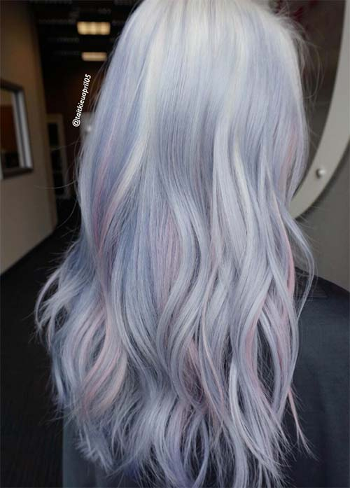 Granny Silver/ Grey Hair Color Ideas: Cotton Candy Granny Hair