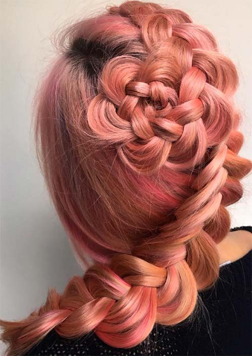 100 Ridiculously Awesome Braided Hairstyles: Rosette Dutch Braids