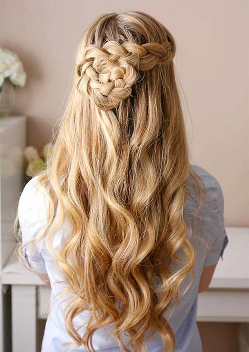 100 Ridiculously Awesome Braided Hairstyles: Dutch Braided Flower
