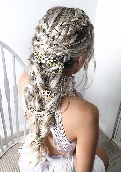 100 Ridiculously Awesome Braided Hairstyles: Silver Queen Braids