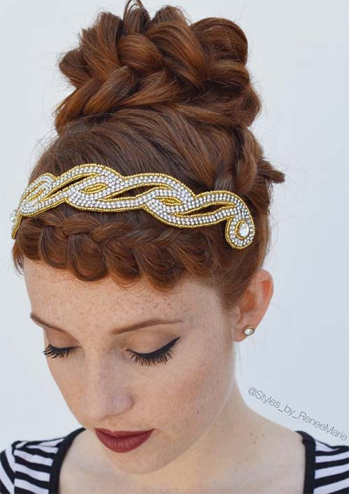 100 Ridiculously Awesome Braided Hairstyles: Crown Braided Updo