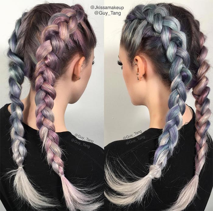 100 Ridiculously Awesome Braided Hairstyles: Dutch Boxer Braids