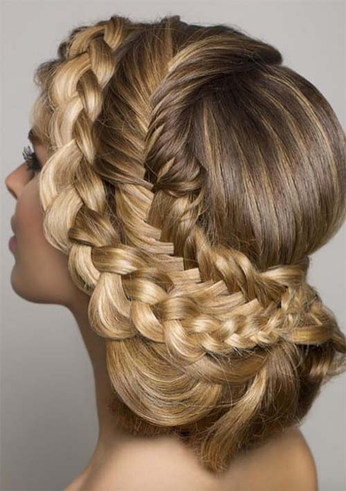 100 Ridiculously Awesome Braided Hairstyles: Braided Updo