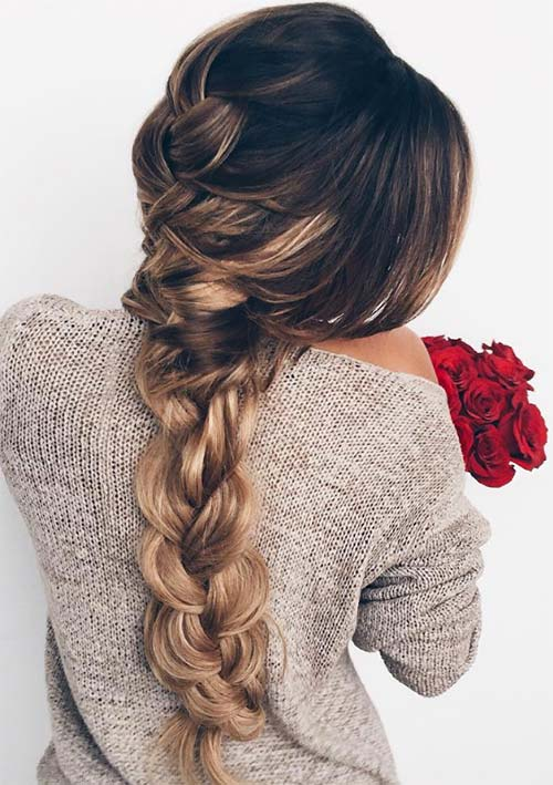 100 Ridiculously Awesome Braided Hairstyles: Loose French Braid