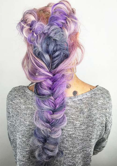 100 Ridiculously Awesome Braided Hairstyles: Layered Fishtail Braids