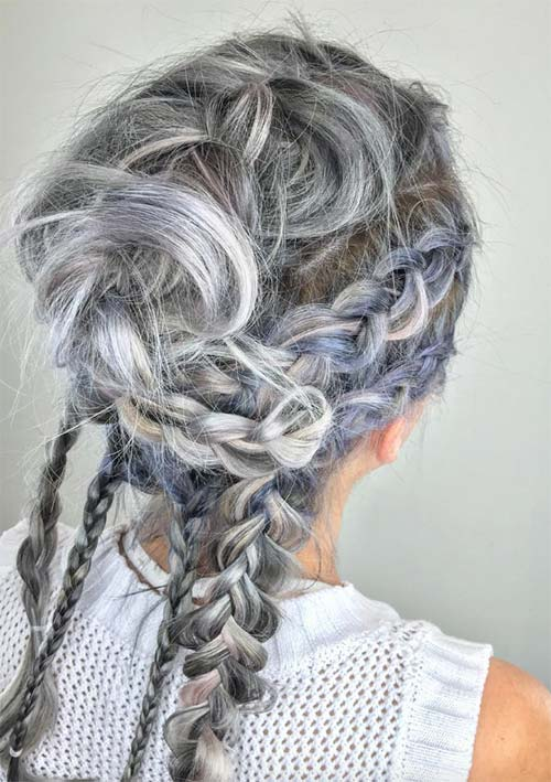 100 Ridiculously Awesome Braided Hairstyles: Messy Braids