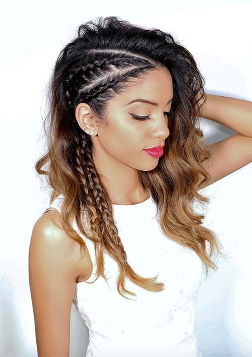 100 Ridiculously Awesome Braided Hairstyles: Undercut Mimic Braids