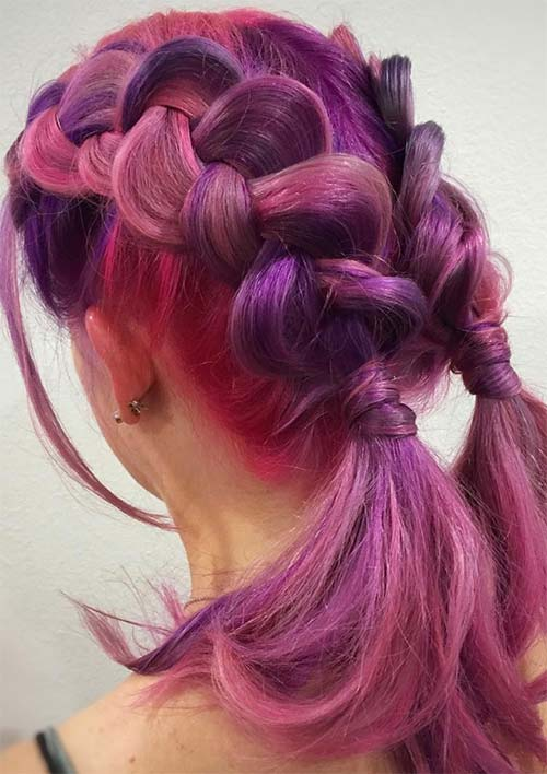 100 Ridiculously Awesome Braided Hairstyles: Double Dutch Braids