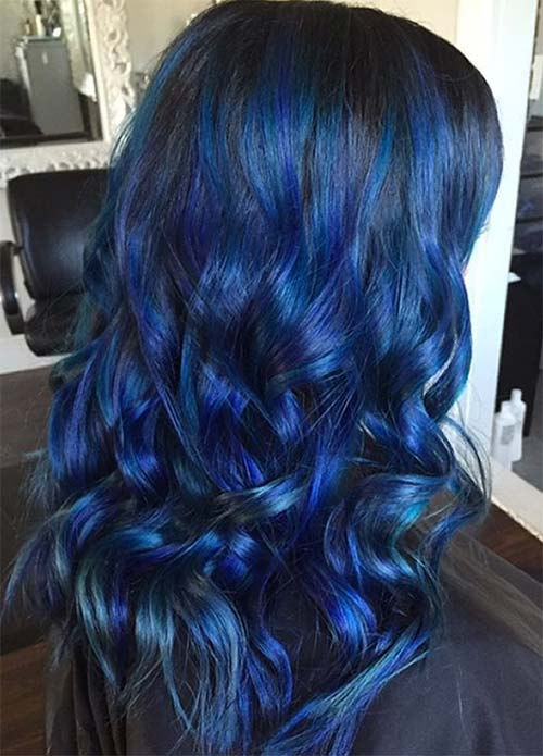 Dark Hair Colors: Deep Blue Hair Colors