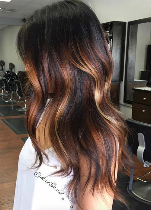 copper highlights on black hair wwwpixsharkcom