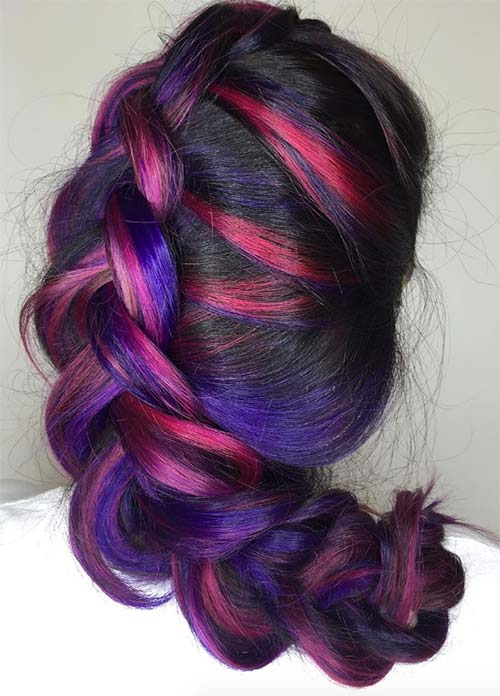 Purple hair color ideas shades of purple of 22 original for Shades of dark purple