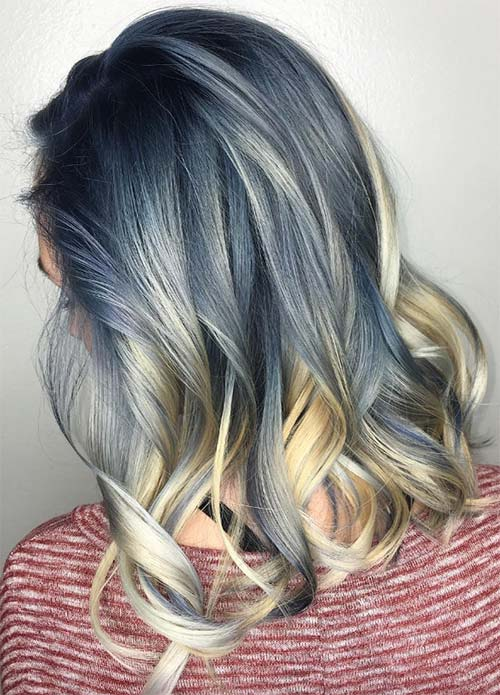 Blue Denim Hair Colors: Dynamic Denim Blonde