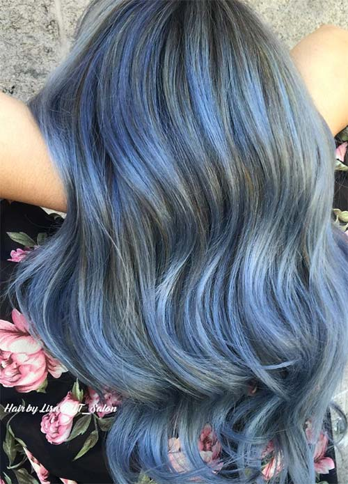 Blue Denim Hair Colors: Bulletproof Balayage