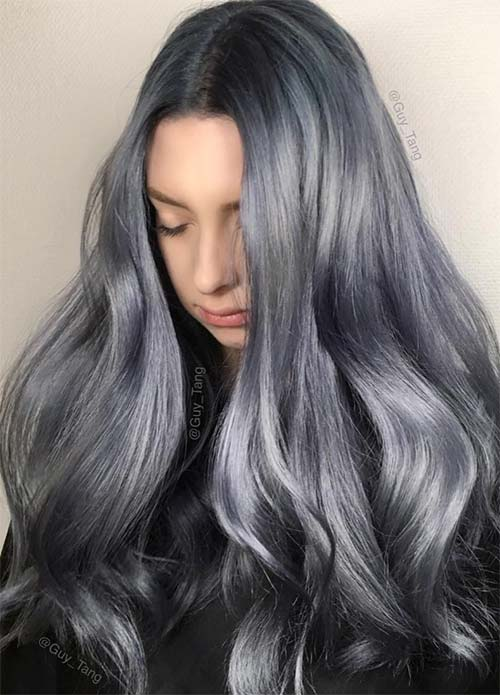 Blue Denim Hair Colors Stonewashed Jean Magic