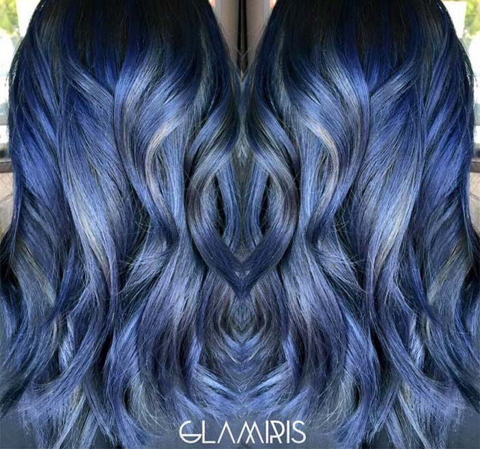 50 Magically Blue Denim Hair Colors You Will Love Fashionisers