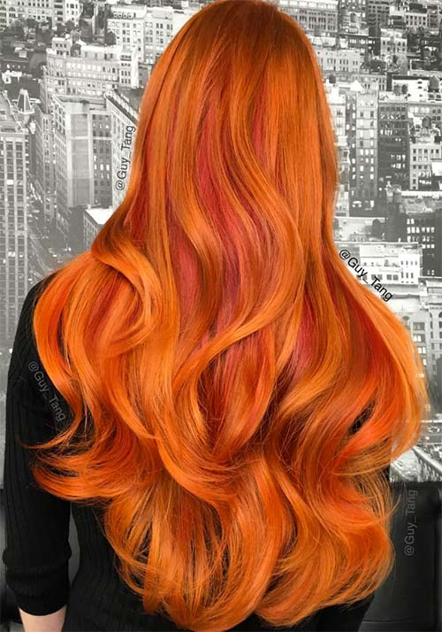 Burnt Orange Hair Color Www Pixshark Com Images