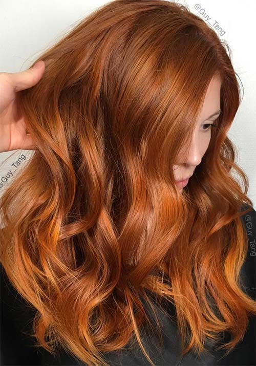 Blonde and auburn hair color ideas