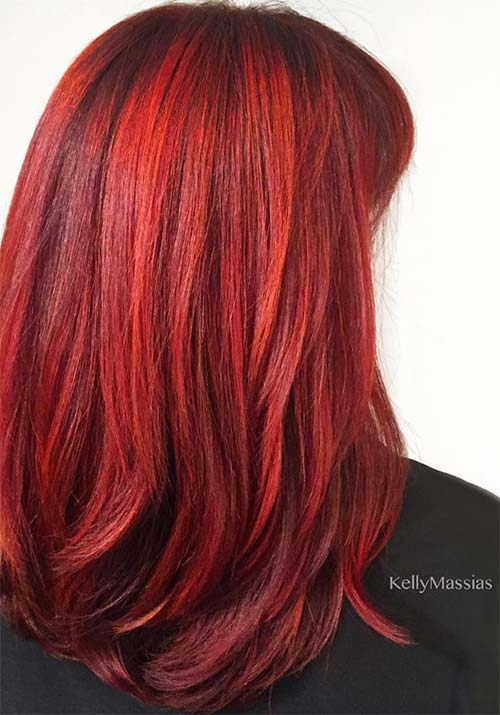 Diffe Shades Of Red Hair Dye Find
