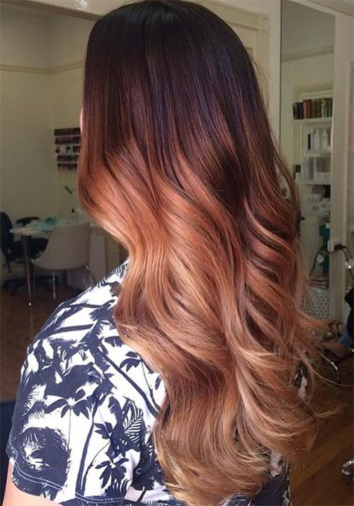 100 Badass Red Hair Colors: Auburn Cherry Copper Burgundy Hair Shades : definition-of-ombre-color - designwebi.com