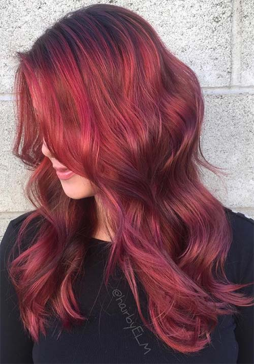 Hair Color Rich Red Brown With Sweet Streaks Pinterest Dark Auburn Marvelous Caramel