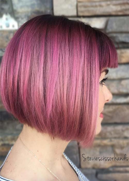 55 Incredible Short Bob Hairstyles Amp Haircuts With Bangs