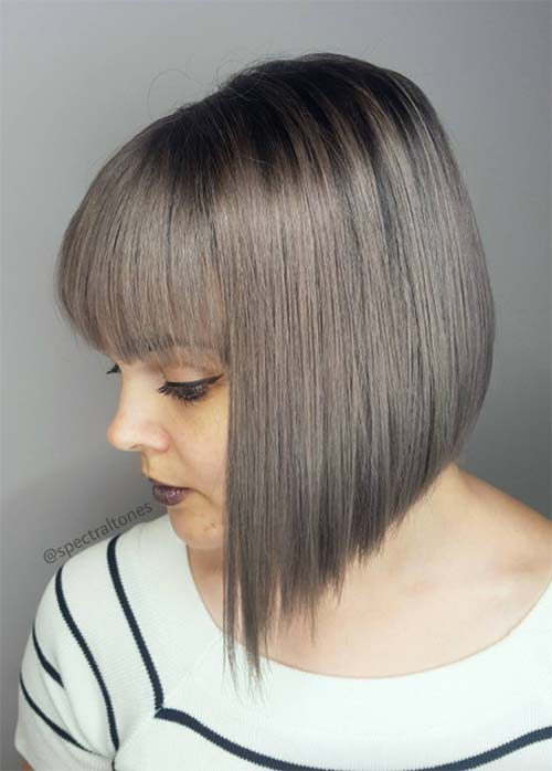 Short Bob Hairstyles Haircuts With Bangs