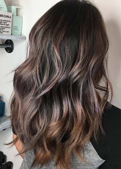 Chocolate Mauve Hair Color Ideas