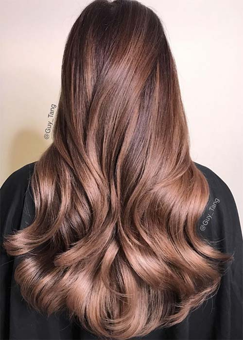 20 Pretty Chocolate Mauve Hair Colors Ideas To Inspire Fashionisers
