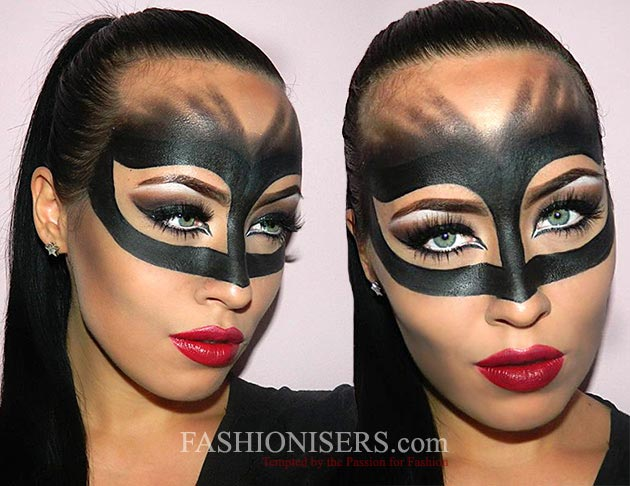 Creative Halloween Makeup Ideas: Catwoman Halloween Makeup