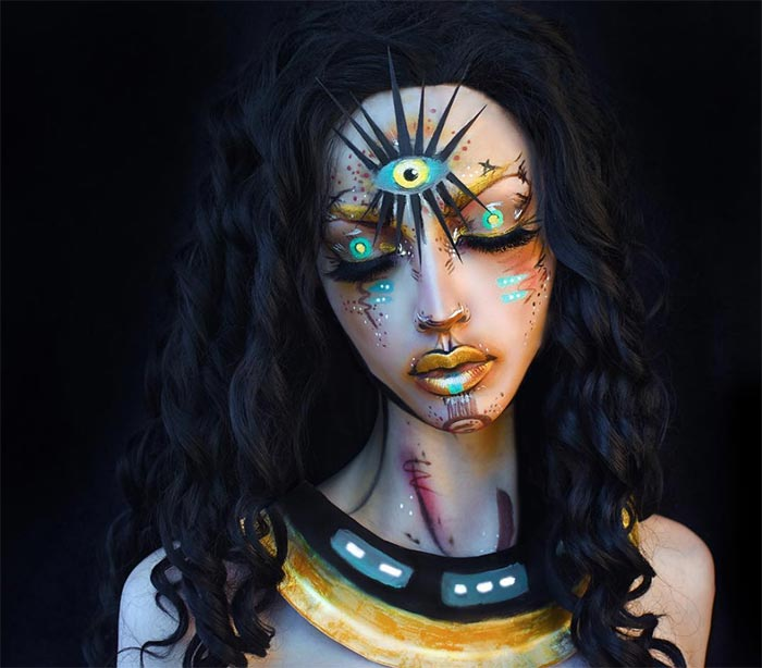 Creative Halloween Makeup Ideas: Cleopatra Halloween Makeup