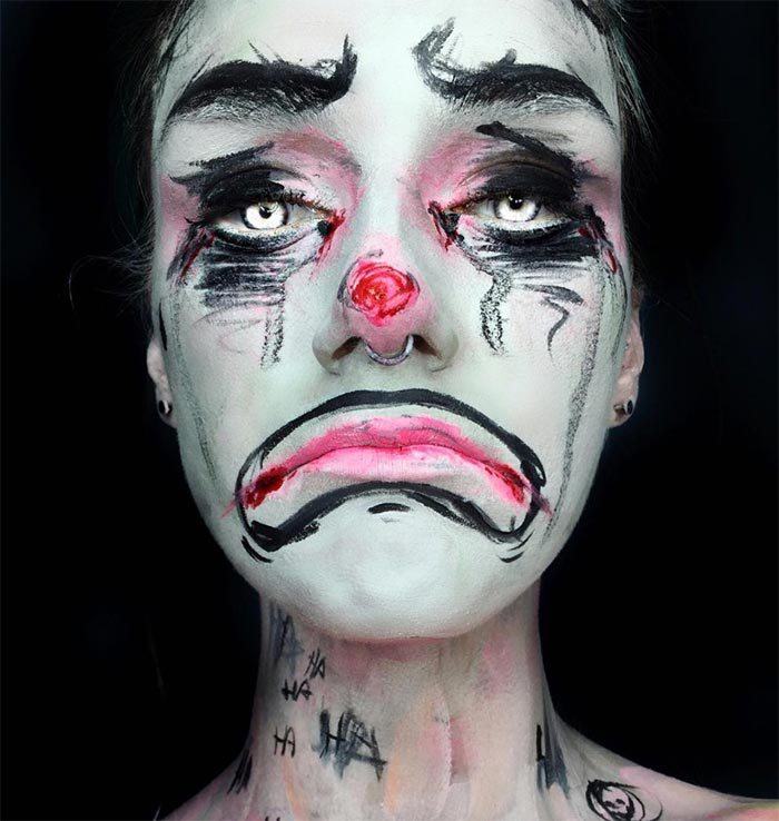 Creative Halloween Makeup Ideas: Clown Halloween Makeup