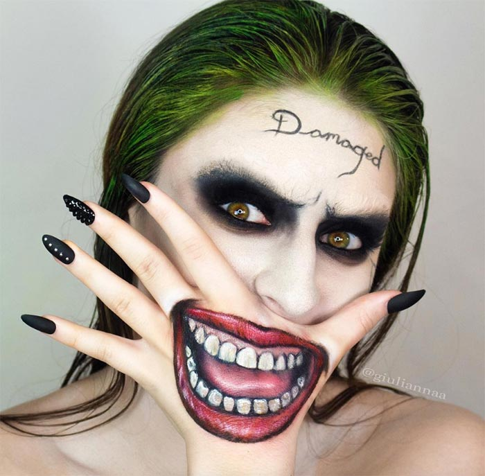 Creative Halloween Makeup Ideas: Damaged Halloween Makeup