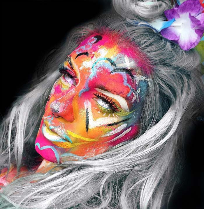 Creative Halloween Makeup Ideas: Hippie Fortune Teller Halloween Makeup