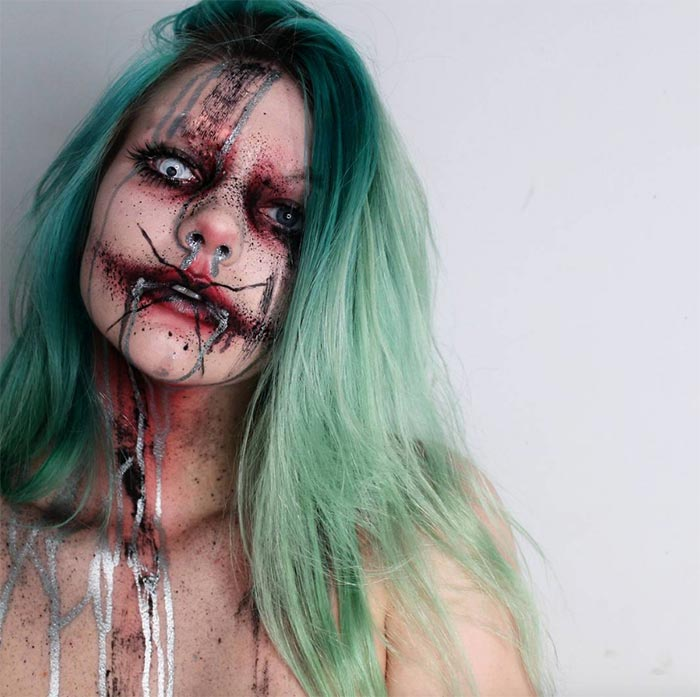 Creative Halloween Makeup Ideas: Horror Zombie Halloween Makeup