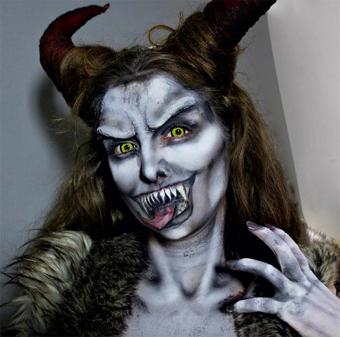 Creative Halloween Makeup Ideas: Krampus Halloween Makeup