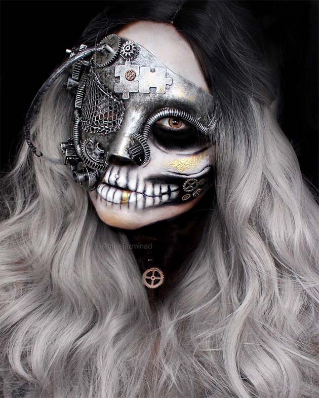 Creative Halloween Makeup Ideas: Punk Skull Halloween Makeup