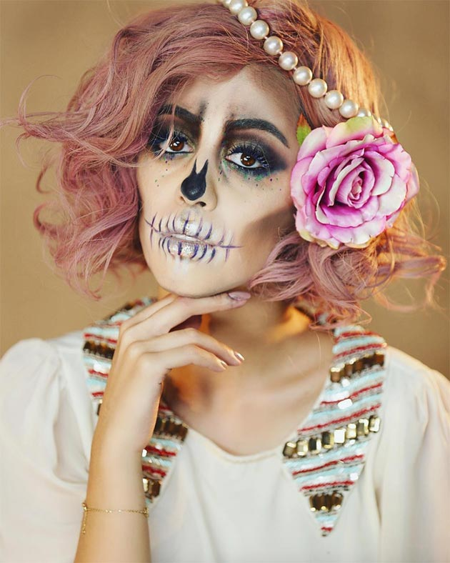 Creative Halloween Makeup Ideas: Sugarskull Halloween Makeup