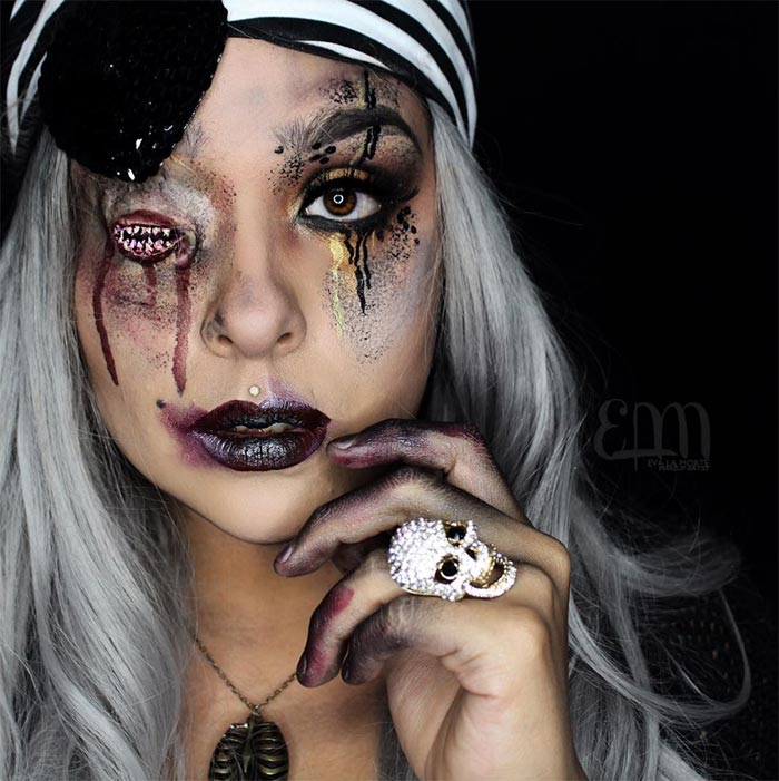 Creative Halloween Makeup Ideas: Zombie Halloween Makeup