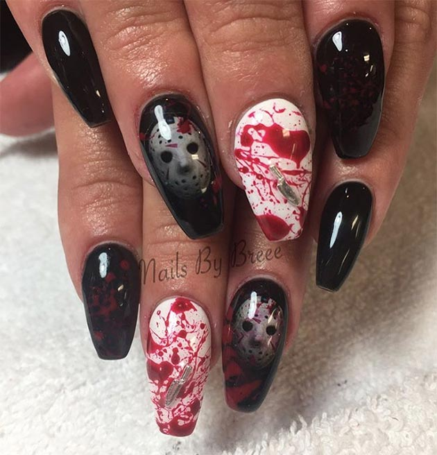 50 Awe-Inspiring Halloween Nail Art Designs | Fashionisers©