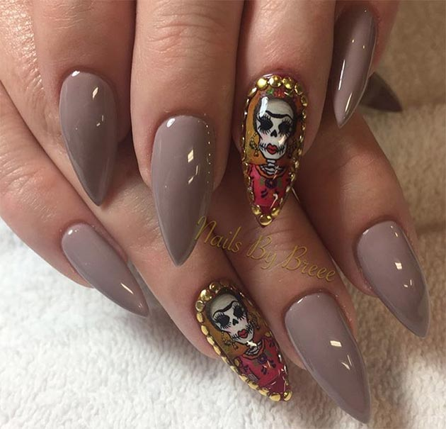 50 awe inspiring halloween nail art designs fashionisers 50 awe inspiring halloween nail art designs prinsesfo Gallery