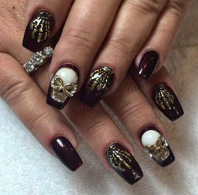 50 awe inspiring halloween nail art designs fashionisers 50 awe inspiring halloween nail art designs prinsesfo Image collections