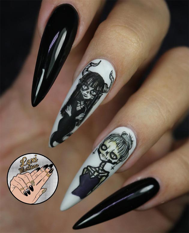 50 Awe Inspiring Halloween Nail Art Designs Fashionisers