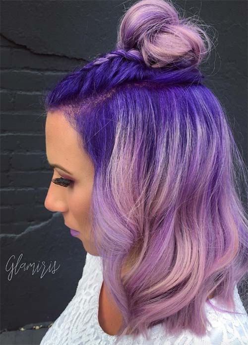 50 Lovely Purple & Lavender Hair Colors - Purple Hair Dyeing Tips ...