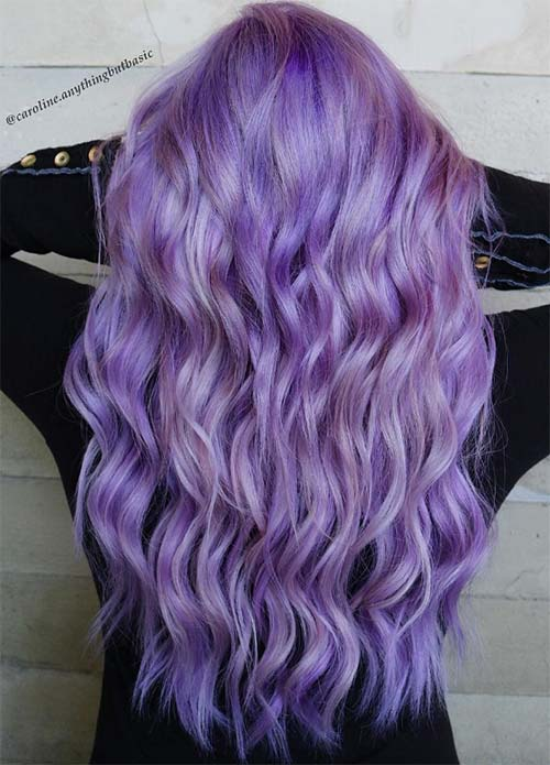 50 Lovely Purple Amp Lavender Hair Colors  Purple Hair Dyeing Tips  Fashi