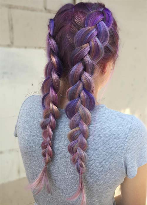 50 Lovely Purple Amp Lavender Hair Colors Purple Hair