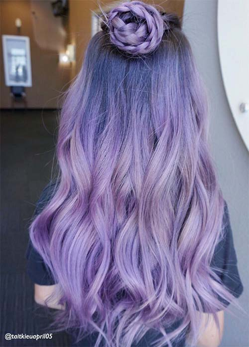 Silver lavender ombre hair images for Purple mauve color