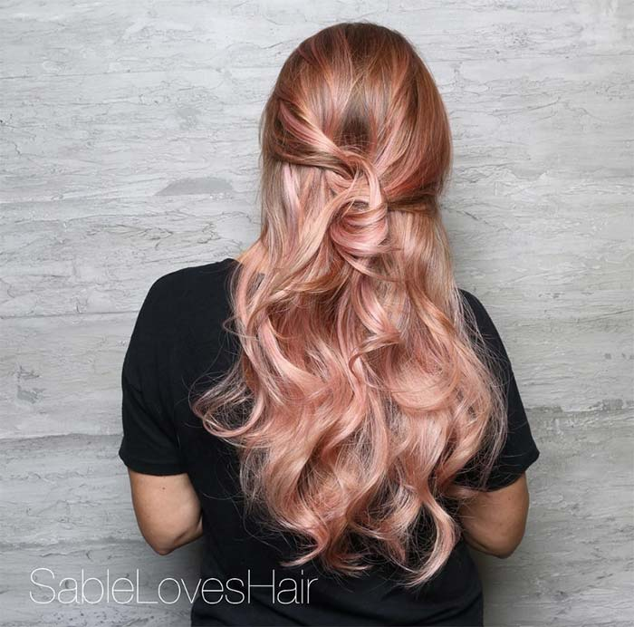 65 Rose Gold Hair Color Ideas For 2017 Rose Gold Hair Tips