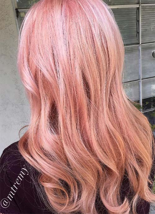 Pink highlights blonde hair pictures best blondehair 2018 65 rose gold hair color ideas for 2017 woman with pink hair streaks in blonde pmusecretfo Choice Image