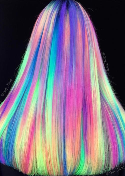 Glow-In-The-Dark Hair