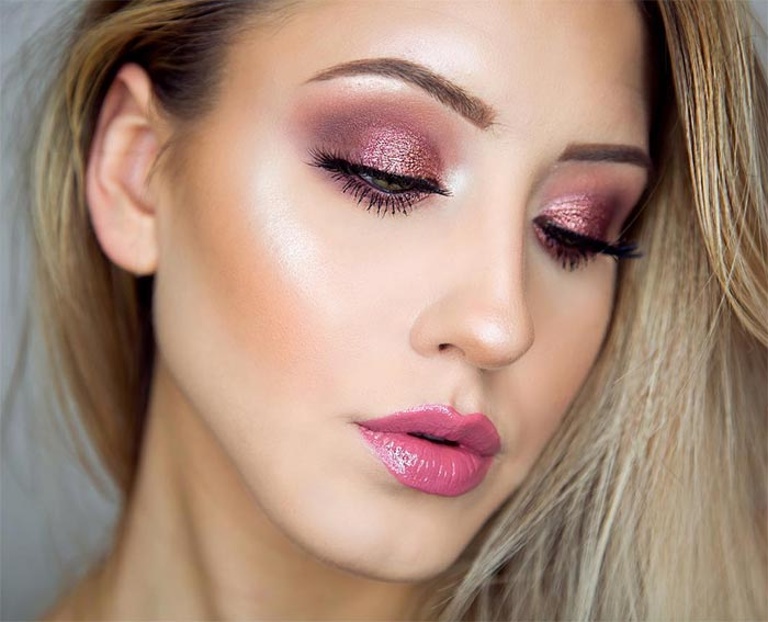 50 Mesmerizing Party Makeup Looks For The Holidays | Fashionisers